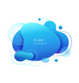 abstract blue fluid blob in 3d shape vector image vector image