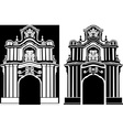 Arch in two variants vector image vector image