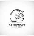 astronaut abstract sign emblem icon or vector image