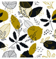 autumn leaves seamless pattern fall vector image vector image