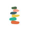 balance stone harmony pebble logo stack vector image