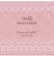 Baroque wedding invitation pink vector image vector image