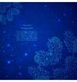 Blue abstract flower background vector image vector image