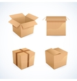 Box and package icons vector image vector image
