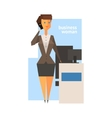 Business Woman Abstract Figure vector image vector image