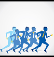 businessmen run concept b vector image vector image