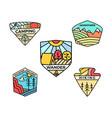 camping adventure badges logos set vintage summer vector image vector image