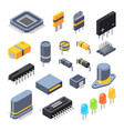 capacitor different chips semiconductor and vector image vector image
