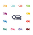 car settings flat icons set vector image