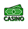 casino poker winner dollars template icon vector image vector image