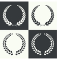 circular laurel wreath vector image