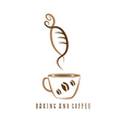 coffee and bakery negative space concept vector image vector image