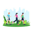 collect garbage while running vector image vector image