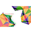 color triangle vector image vector image