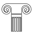 column ancient style antique classical column vector image
