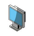 computer screen 3d vector image vector image