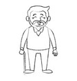 cute grandfather cartoon vector image vector image