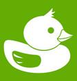 duck icon green vector image vector image
