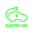 electric car battery charging sign icon with flat vector image
