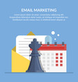 email marketing advertising mailing by mail vector image vector image