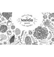 farmers market menu design template vintage hand vector image