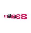 fitness sign vector image vector image