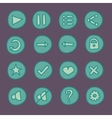 flat game ui buttons set in doodle style vector image vector image