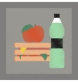flat shading style icon sandwich apple water vector image