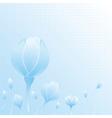 flower blue blue vector image