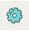 Gear thin line icon vector image vector image
