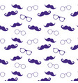 geek face hipster style set bowtie glasses and vector image vector image