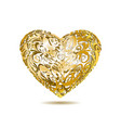 Gold Openwork Floral Heart vector image
