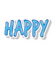 happy word isolated icon vector image