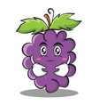 hugging grape character cartoon collection vector image vector image