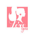 i love you print design template with lettering vector image