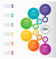 infographic template technology or education vector image