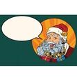 Joyful Santa Claus says vector image vector image
