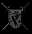 knight design crossed knightly sword and heraldic vector image vector image
