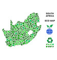 leaf green mosaic south african republic vector image vector image