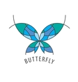 logo butterfly vector image vector image