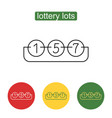 lottery number balls line icon vector image vector image