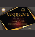 modern certificate or diploma template 8 vector image