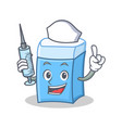 nurse eraser character mascot style vector image vector image