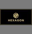 ok hexagon logo design inspiration vector image vector image