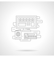 Online booking detail line icon vector image vector image