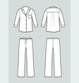 pajamas suit vector image vector image