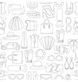 pattern of fashion objets and trendy vector image vector image
