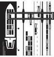 port cargo terminal vector image vector image