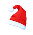 red santa claus hat new year cap isolated on vector image