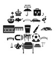 relocation icons set simple style vector image